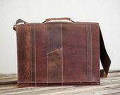 fullgive leather briefcase // the frenchie. free gift
