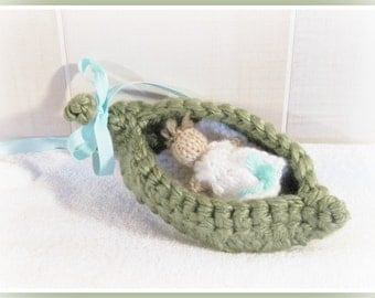Pea Pod and Baby Pattern Knit and  Crochet