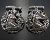 Cufflinks, Peruzzi, Sterling Silver, Virgo, Zodiac Cuff Links