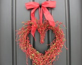 Door Wreaths - Wild At Heart - Tame My Heart - Valentine's Wreath - Valentine Decor - Crazy for You