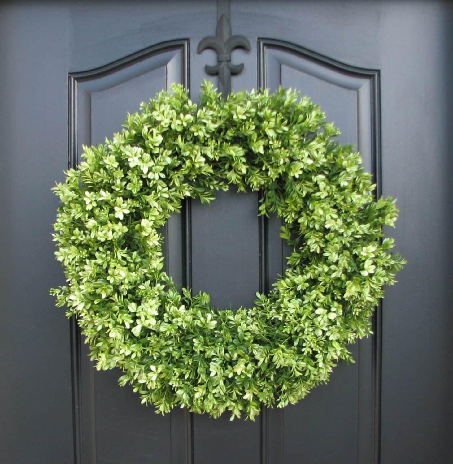 Garland For Front Door: Boxwood Boxwood Wreaths Spring Boxwood Wreaths Faux Boxwood