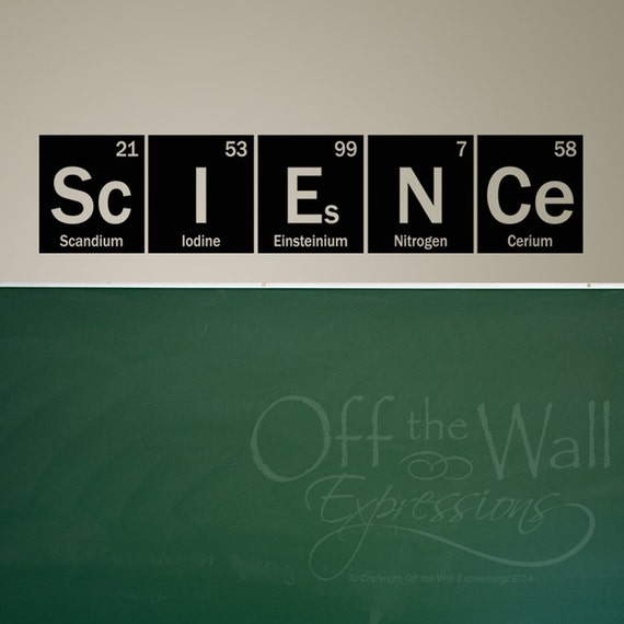 Science Wall Art science wall decal periodic table elements vinyl wall art