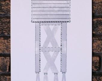 Penland School of Crafts Letterpress Architecture Print