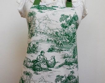 French Toile Chef's Apron