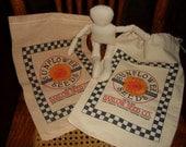 feed sack doll, sunflower doll kit, stuffed doll, flour sack, doll supplies, sewing supplies, craft kits