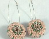 Pink and Green Pinwheel Earrings... EBW Team
