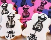 Vintage dress form cookies 1 dozen