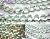 sales -30% / T321SP / 2meter / Link size 11.5x9mm - Silver Plated Bold Opened-Link Curb Chain Findings