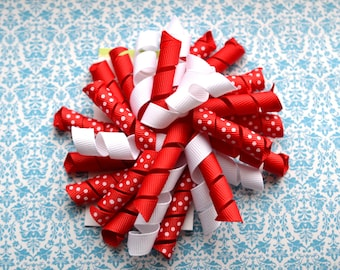 Red and White Korker Clip
