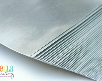 """Metallic Silver Sticker Sheets - Perfect for your DIY projects 8.5"""" x 11"""""""