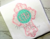 Machine Embroidery Design Applique Cross with Circle INSTANT DOWNLOAD