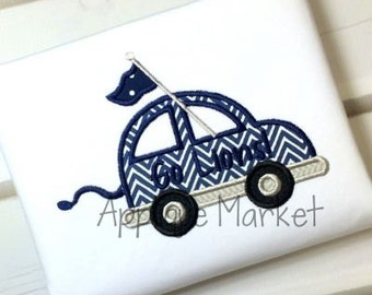 Machine Embroidery Design Applique Car Lion Tail INSTANT DOWNLOAD