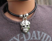 Silver Sugar Skull Necklace Gothic Male Doll Jewelry for 1/6th Scale 12 inch Petite Slimline Male Guy Boy Dolls Action Figure Monster