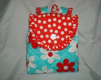 Child's Backpack in Michael Miller Plain Jane