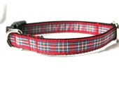 Stewart Tartan Small Dog Collar - Perfect for Puppies
