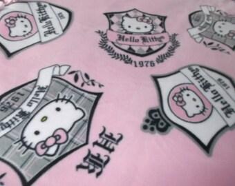 Fleece Handmade No Sew Hello Kitty Childerns  Blanket