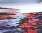 Sea Coast Landscape, Contemporary Art, River And Sea Scene, Acrylic Art Print, Modern Design, Seashore Landscape, Coastal River Scene, 8 x10
