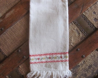 Sweet Linen Drawn Work Hand Towel