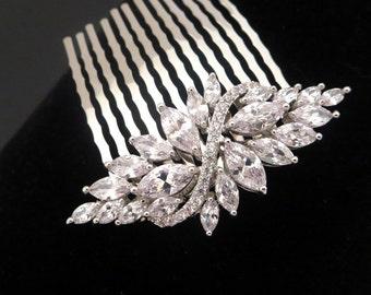 Wedding hair comb, Bridal headpiece, Bridal hair pin, Crystal hair comb, Vintage style hair comb, Rhinestone hair comb, Bridal jewelry