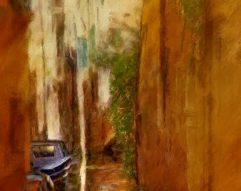Venice Alley, Italy, Painting, Print, Home Decor, Photography