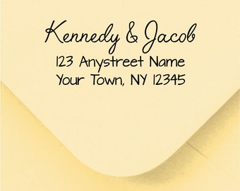 Personalized Custom Handle Mounted Return Address Rubber Stamp R248