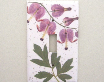 Single bleeding heart  light switch cover switchplate