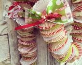 veryMERRY christmas polka dot cupcake garland KIT