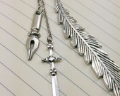 Sword and Pen Nib Metal Hook Bookmark