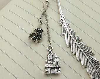 Castle and Gnome Metal Hook Bookmark