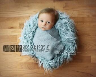 RTS Blue Newborn Stretch Knit Wrap Photo Prop, Newborn Baby Photography Prop, Photography Props, Custom Photo Props, River Nubble, Blue