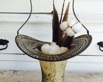 Vintage Silver Plated Bridal Flower Basket