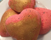 Bath Bomb.. Rose Scented.. Easter Egg Hunt for Mom... ORGANIC.. All Natural.. Handcrafted.. Almond Oil and Rose Essential Oil