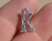 1 Silver Plated Letter K Charm SC2340