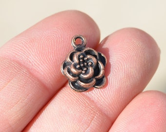 1 Copper Flower Charms BC2421