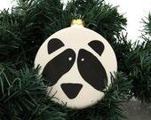 Panda Bear Christmas ornament cute can be personalized