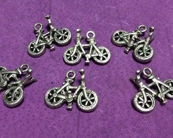 Medium Bicycle Pewter Charms