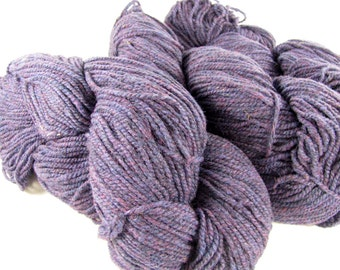 deSTASH | Philosophers Wool Co Dark Purple Heather 100% wool knitting yarn