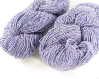 deSTASH | Philosophers Wool Co Light Purple Heather 100% wool knitting yarn
