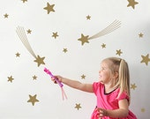 Star Wall Decals Outer Space Nursery Theme Room Decor Kids Star Wall Stickers (Pack of 31)