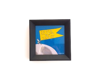 Framed Mini Print - The World Needs More Happiness Illustration in Locally Made Frame - Nursery Children - Love Notes For Littles Series
