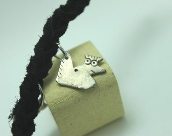 Sterling Silver Chicken Charm: Know-It-All Nan
