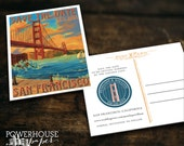 San Francisco Golden Gate Post Card Save the Date