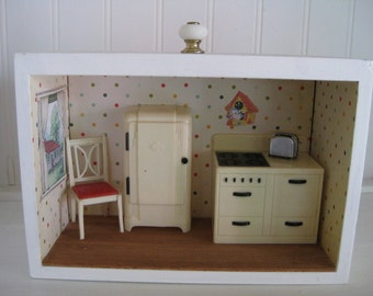 dollhouse kitchen shadow box