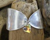 Spoon Cuff Bracelet With Swarovski Heart