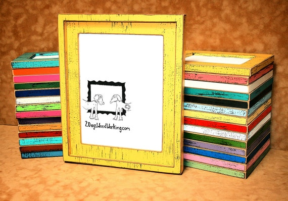 Picture Frame 8x8 Or 8x10 Colored Barnwood Frame Square