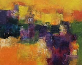 October 2014 - 1 - Original Abstract Oil Painting - 45.5 cm x 45.5 cm  (app. 18 inch x 18 inch)