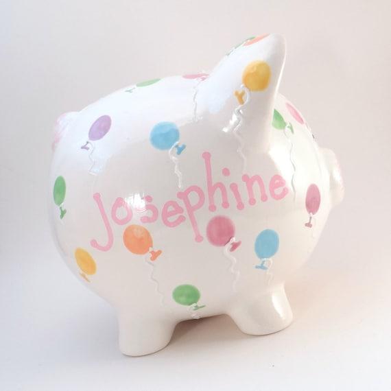 Balloon Piggy Bank Personalized Piggy Bank Party Balloons