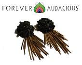 ROSEBUD Studs x STRIPPED  ( Genuine Leather Earrings) FREE Gift w/ Purchase