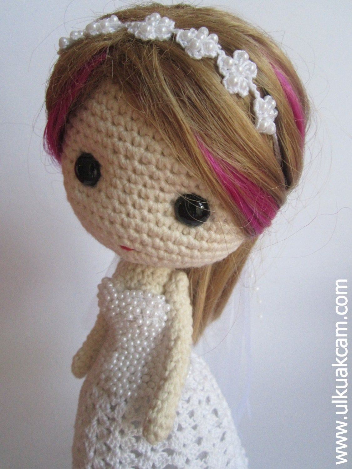 Basic Crochet Doll Pattern Free : PDF Crochet Wedding Gown Pattern for Deniz Doll Blythe Doll