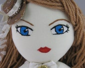 Steampunk Alice in Wonderland- OOAK Soft Plush Doll